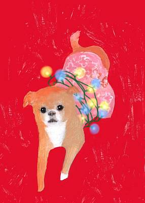 Painting - Per-pet-tually Happy Peko by Kazumi Whitemoon