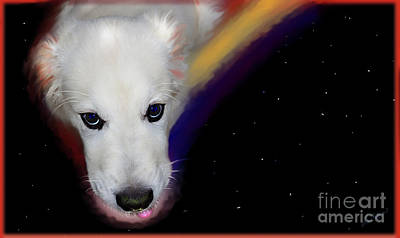 Retrievers Digital Art - Dog In Space by Lisa Redfern