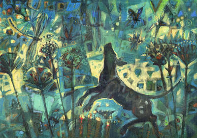 Painting - Dog In The Garden by Nato  Gomes