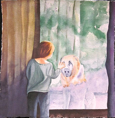 Painting - Dog In The Window by Teresa Beyer