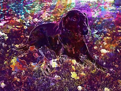 Labrador Digital Art - Dog Labrador Formel Bitch Black  by PixBreak Art
