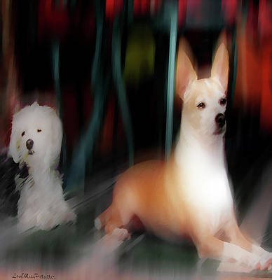 Digital Art - Dog Love Art 5 by Miss Pet Sitter