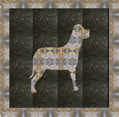 Animal Watercolors Juan Bosco - Dog made of Crystal Stone RareEarth Material download option for personal commercial use link below  by Navin Joshi