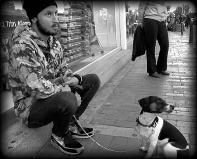 Dog Man Print by Daniel Gomez
