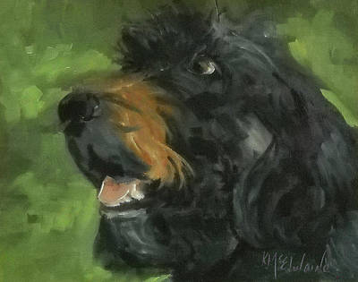 Painting - Dog My Newfoundland By Kmcelwaine by Kathleen McElwaine
