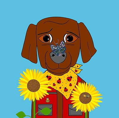 Digital Art - Dog Nature Lover by Kathleen Sartoris