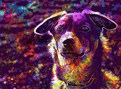 Digital Art - Dog Nature  by PixBreak Art