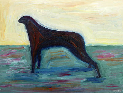 Dog Abstract Art Painting - DOG by Patrick J Murphy