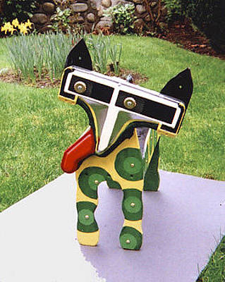Mixed Media - Dog Planter by Bill Thomson