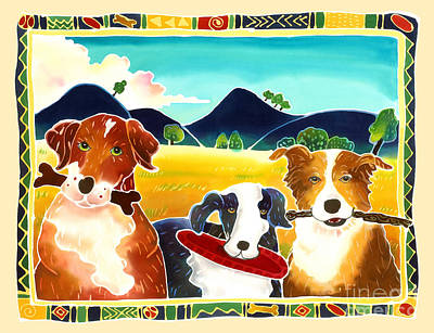 Dog Play Art Print by Harriet Peck Taylor