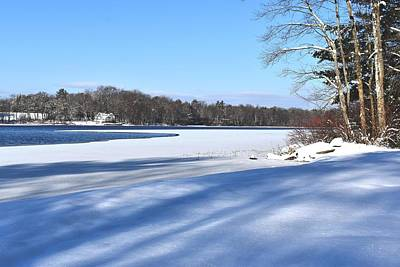 Photograph - Dog Pond In Winter 1 by Nina Kindred