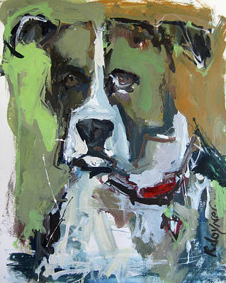 Art Print featuring the painting Dog Portrait by Robert Joyner