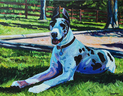 Painting - Dog Portrait by Steve Hunter