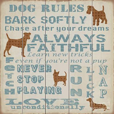 Pets Art Digital Art - Dog Rules-jp3034 by Jean Plout