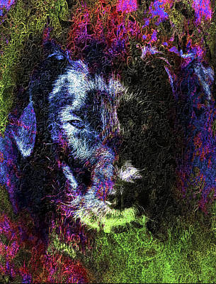 Digital Art - Dog Spirit Guide by Dorothy Berry-Lound