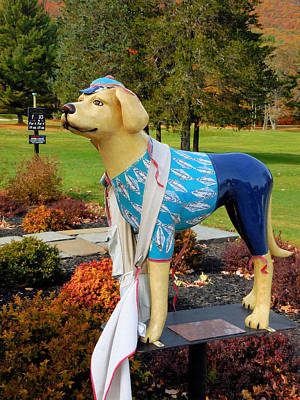 Golf Statues Painting - Dog Statue 3 by Lanjee Chee