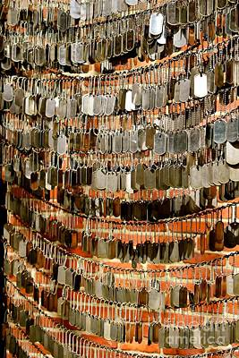 Northend Photograph - Dog Tag Memorial by Deena Withycombe