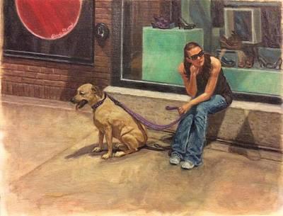 Dog Tired Original by Elaine Silverman Sturm