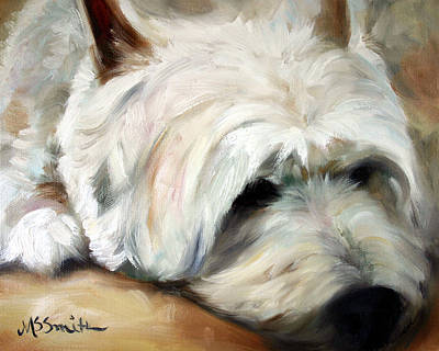 Dog Tired Art Print by Mary Sparrow