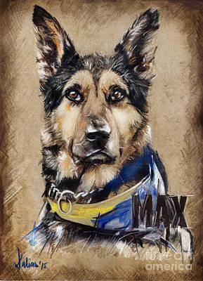 Drawing - Dog Traditional Drawing by Daliana Pacuraru