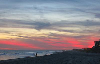 Photograph - Dog Walker At Sunset by Betty Buller Whitehead