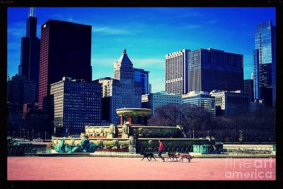 Photograph - Dog Walking City Of Chicago by Frank J Casella