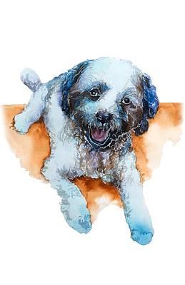 Mongrel Painting - Dog#17 by Rafal Wnek