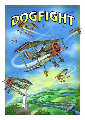 Digital Art - Dogfight by Scott Ross