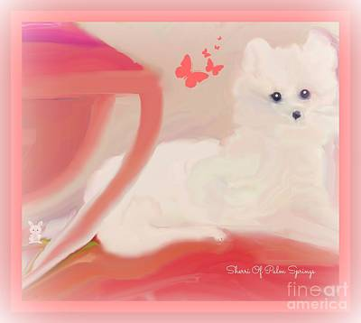 Digital Art - Doggie Art  My Love by Sherri Of Palm Springs
