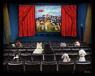 Photograph - Doggie Cinema by Diana Haronis