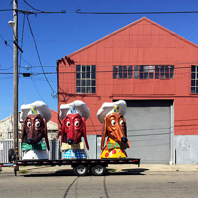 Wall Art - Photograph - Doggie Diner Heads by Julie Gebhardt