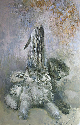 Painting - Doggies  by Valentina Kondrashova