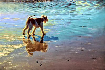 Doggone Beachy Day Art Print