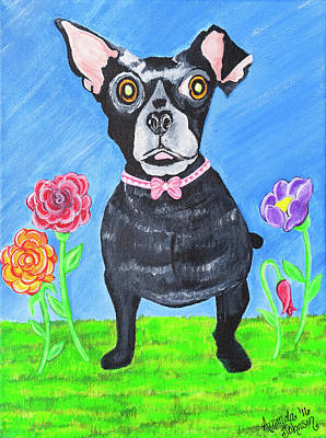 Painting - Doggone Delightful by Amanda Johnson