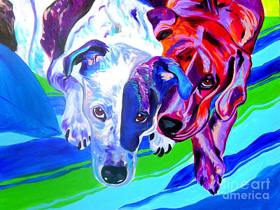 Dogs - Tango And Marley Art Print by Alicia VanNoy Call