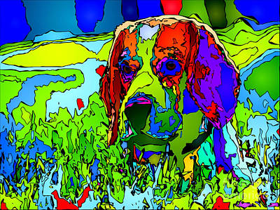 Digital Art - Dogs Can See In Color by Rafael Salazar