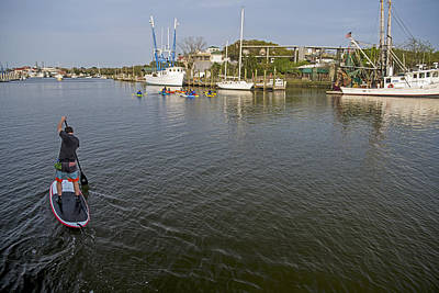 Photograph - Getting It Done In Charleston Sc Waters by Willie Harper
