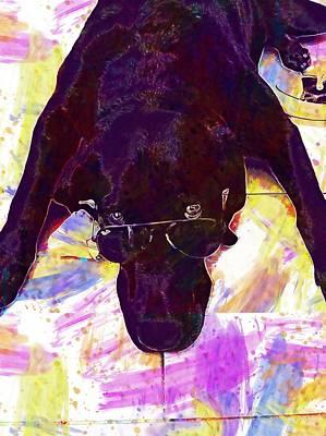Labrador Digital Art - Dogs Labrador Pets  by PixBreak Art