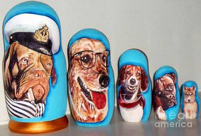 Dogs Nesting Doll Original