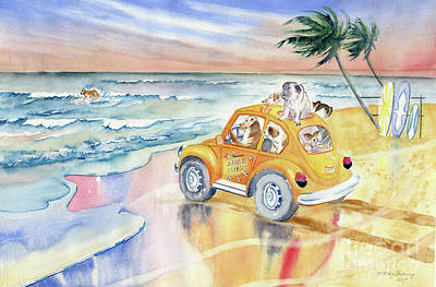 Painting - Dogs On Vacation by Melly Terpening
