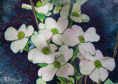 Painting - Dogwoods For Mama Polly by Ron Richard Baviello