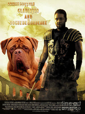 Painting - Dogue De Bordeaux Art Canvas Print - Gladiator Movie Poster by Sandra Sij