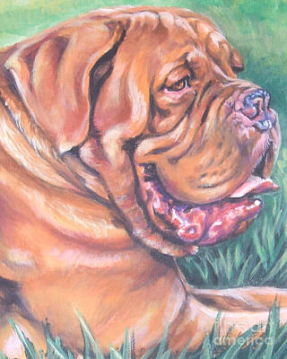 Mastiff Dog Painting - Dogue De Bordeaux by Lee Ann Shepard