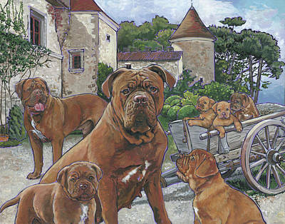 Dogue De Bordeaux Art Print by Nadi Spencer