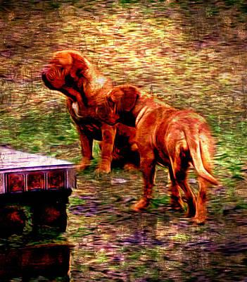Mixed Media Royalty Free Images - Dogue de Bordeaux V Royalty-Free Image by Marshall Thomas