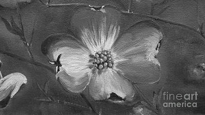 Painting - Dogwood - Black And White  by Jan Dappen