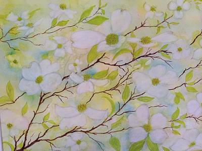 Painting - Dogwood Blossoms by Flo Markowitz