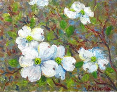 Painting - Dogwood Blossoms by Jean Ehler