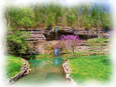 Dogwood Canyon Cliffs2 Art Print