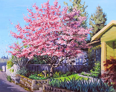 Painting - Dogwood Days by Karen Ilari